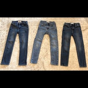 3 boys Abercrombie kids skinny fit jeans. 7/8